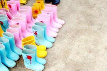 botas de agua para niñas